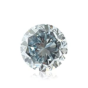0.53Cts Fancy Blue Loose Diamond Natural Color Round Shape GIA Certified