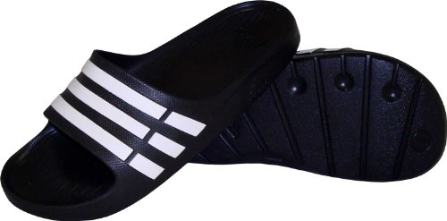 Adidas Duramo Slide Black/White/Black,14 M Us back-688773