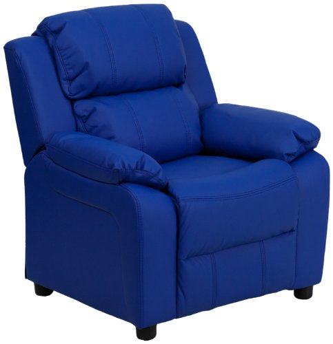 BT-7985-KID-BLUE-GG Deluxe Heavily Padded Contemporary Blue Vinyl Kids Recliner with Storage 294897