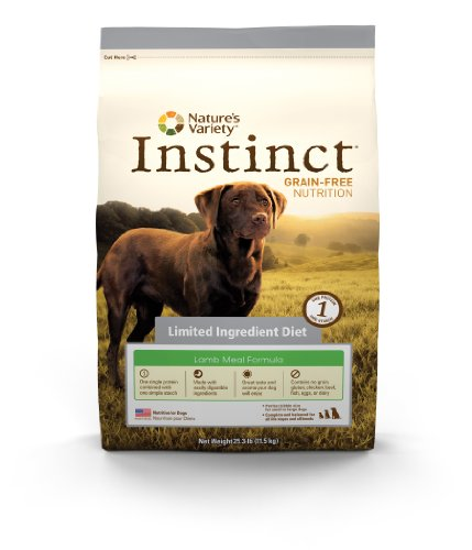 Instinct Grain-Free Lamb Meal Formula Limited Ingredient Diet Dry Dog Food by Nature's Variety, 25.3-Pound Bag