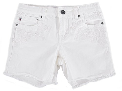 Vigoss Girls Floral Embroidery Shorty Shorts (7)