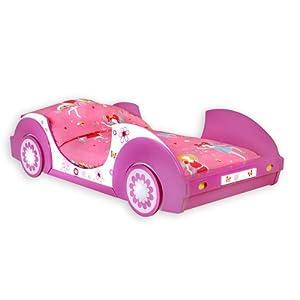 Traumhaftes Autobett BUTTERFLY Kinderbett BETT pink/rosa/weiss