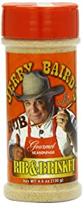 Jerry Baird's Gourmet Seasonings Rib and Brisket Rub, No MSG, 4.6 Ounce