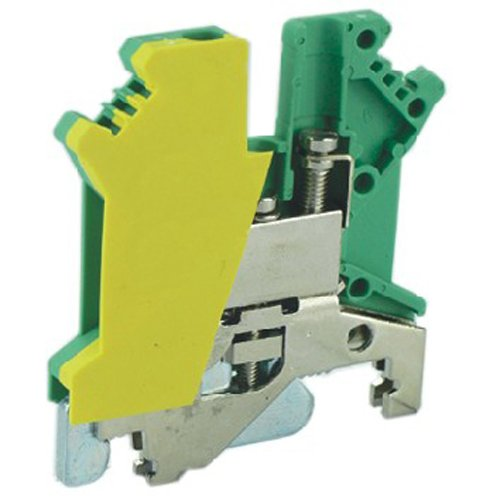ASI ASIUSLKG2.5 Din Rail Mounted Ground Circuit Connection Terminal Block, Screw Clamp (Pack of 50)