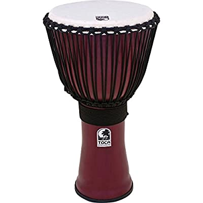 Toca Freestyle II Rope-Tuned Djembe 10 inch Deep Red
