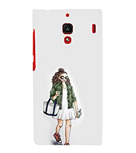 EPICCASE Shopping girl Mobile Back Case Cover For Xiaomi RedMi 1S (Designer Case)