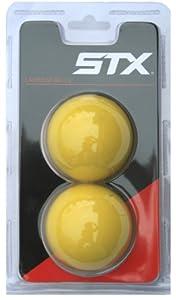 Buy STX Lacrosse Yellow Lacrosse Balls (Pack of 2) by STX
