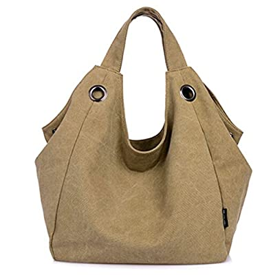 KISS GOLD(TM) Simple Style Womens Vintage Canvas Totes Hobo Bag Shoulder Bag
