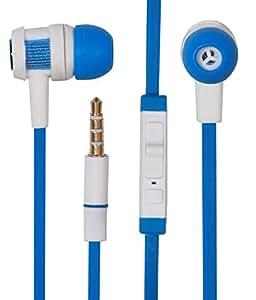 Jkobi Classic Chrome Earbuds Earphones Headset Handsfree Compatible For Reliance Jio LYF Water 10 -Royal Blue
