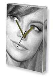 EMMA STONE - Canvas Clock (LARGE A3 - Signed by the Artist) #js001