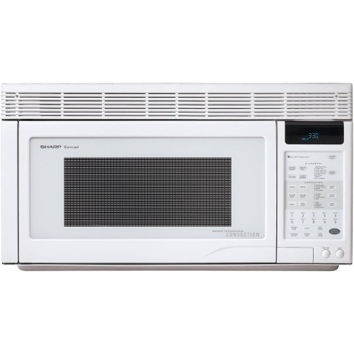 Sharp R-1871 1.1-Cubic-Foot 850-Watt Over-the-Range Convection Microwave, White (Small Powerful Microwave Oven compare prices)