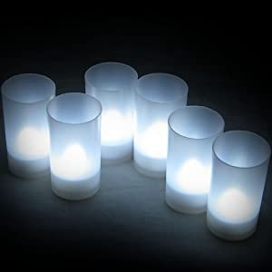 Daffodil LEC006W - 6 White LED Tealights - Flameless Candles with Holders - Perfect for Christmas by Daffodil
