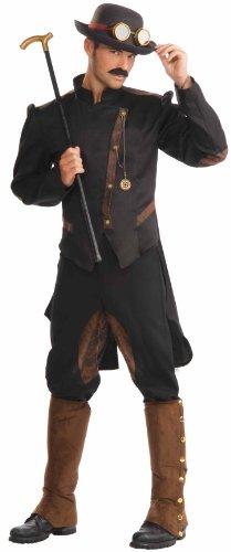 Men'S Steampunk Gentlemen Costume, Brown/Black, One Size front-232376