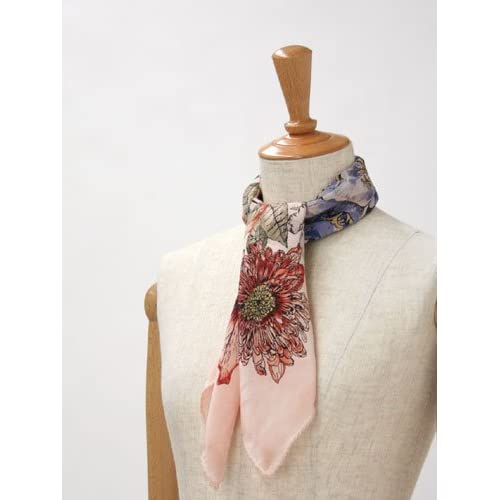 Faliero Sarti【ファリエロサルティ】スカーフ 31759 CLARINS silk PINK(フラワー ピンク)