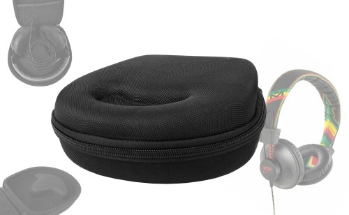 Duragadget Hard Protective Headphone Storage Case For House Of Marley Ttr, Rise Up Over-Ear, Stir It Up, Redemption Song, Riddim, Exodus, Liberate, Buffalo Soldier, Revolution, Rebel, Positive Vibration, Harambe On-Ear Headphones, With Accessories Section