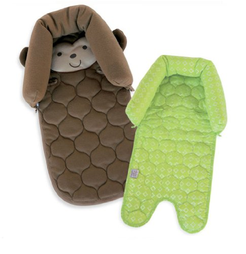 Child Of Mine Monkey Duo Head Support - Green & Brown front-173699