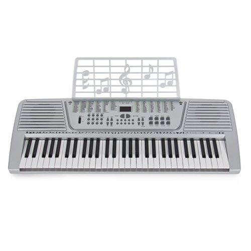 61 Key Electronic Music Keyboard Gift Electric Piano Organ 61 Silver Musical Intruments