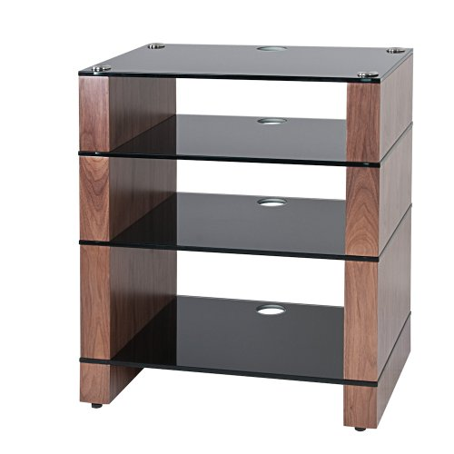 Cheap BLOK STAX DeLuxe 400 Four Shelf Walnut Hifi Audio Stand & AV TV Furniture Rack Unit (B003AKE04O)