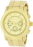 Mens Watch Michael Kors MK8077 Gold Tone Quartz Date Chronograph Link Bracelet M