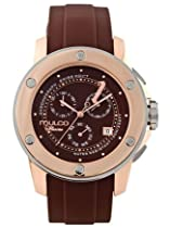 MULCO Chronograph silver and gold bezel brown dial watch MW4-9063-036