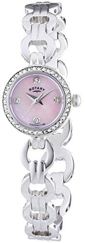 Rotary LB02763/BR/07 Ladies' Steel Watch/Bracelet Gift Set
