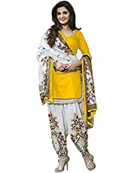 Shiroya Brothers Womens Cotton Unstitched Salwar Suit Dress Material (Shiroya_507_Yellow)