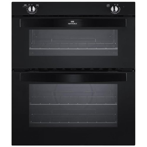 New World NW701G Double Gas Oven - Black