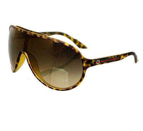 Gucci Unisex Havana Aviator Sunglasses GG 1004/S 7914D