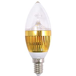 Anker Filite 3W E14 bulb 85-260V Led Candle Lamp Light - 300 Lumens With 3000K Bright Warm White Sharp Led Bulb Chandeliers - European Screw Base