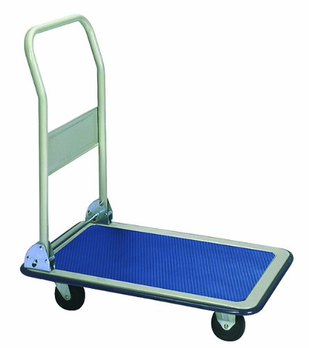 Wesco 272035 Deluxe Series Steel Platform Truck with Folding Handle, 660 lbs Load Capacity, 37-1/2