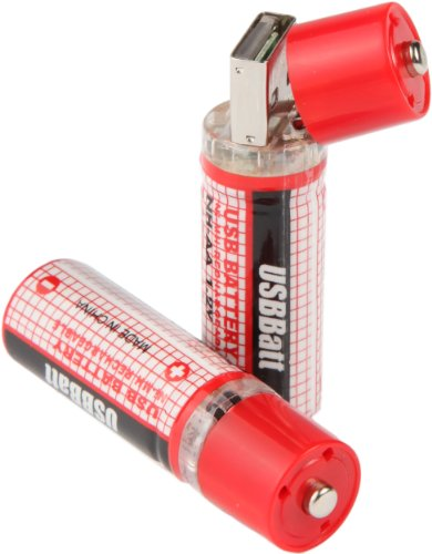 USB Rechargeable AA Batteries (2 Pack)
