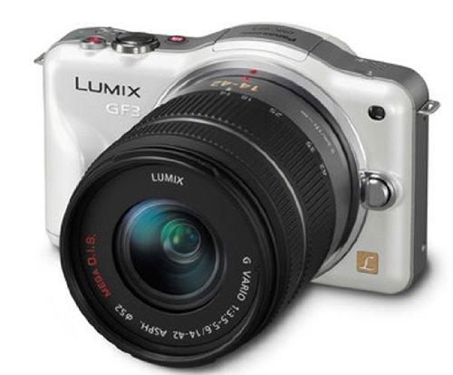 Panasonic Lumix DMC-GF3 12.1MP Compact System Camera Kit with 14-42mm Lumix G VARIO f/3.5-5.6 ASPH MEGA OIS Lens - White
