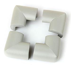 VivReal® Protector Para Esquina de Mesa Mueble Antigolpes Caucho 4PCS Para Bebé Niños Seguridad 6x6x1.2cm Gris en BebeHogar.com