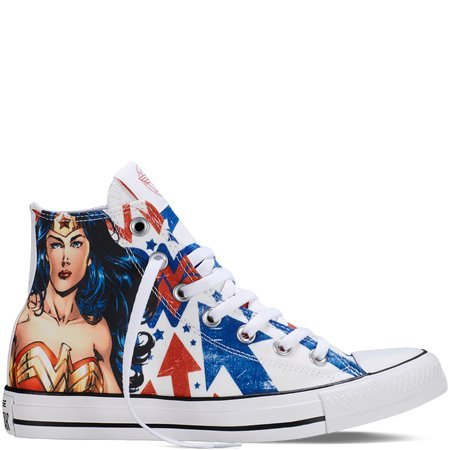 Converse Unisex Chuck Taylor Wonder Woman Hi White/Red/Blue 150466C (8 Men/Women 10)