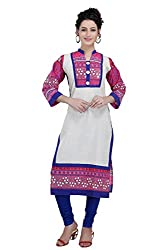 Snehal Creation-Bewitching Vibrant and Colourful Long kurti (PR-1071 _Cream _38)