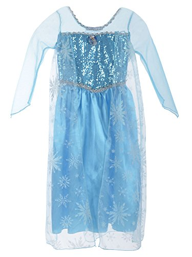Simplicity Frozen Elsa Princess Costume Party Dress Cosplay Gown