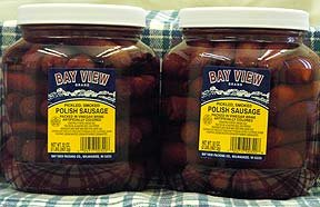 Bay View Pickled Polish Sausage, Two Jars from Wisconsinmade.com
