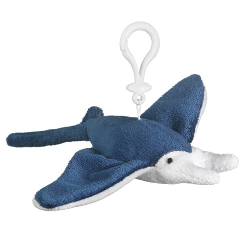 Manta Ray Plush Manta Ray Stuffed Animal Backpack Clip Toy Keychain Wildlife Hanger front-529596