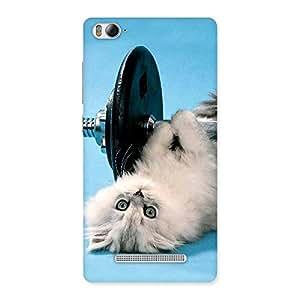 Impressive Fit Cat Multicolor Back Case Cover for Xiaomi Mi4i