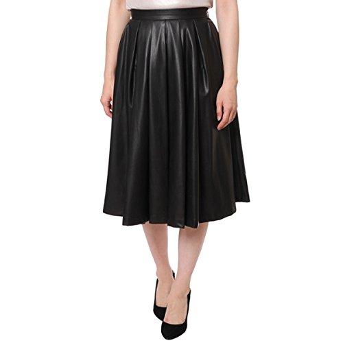 Amazon.co.jp: グレースコンチネンタル(GRACE CONTINENTAL) 『AneCan11月号掲載』フェイクレザープリーツスカート: 服&ファッション小物