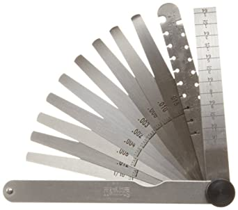 "Starrett 245 Engineer's Combination Taper, Wire, And Thickness Gage, 1/2"" Width, 4-3/4"" Length"