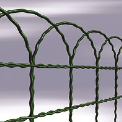 400mm Garden Border Green Wire Fencing x 10m