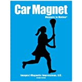 Lacrosse Female Car Magnet Black