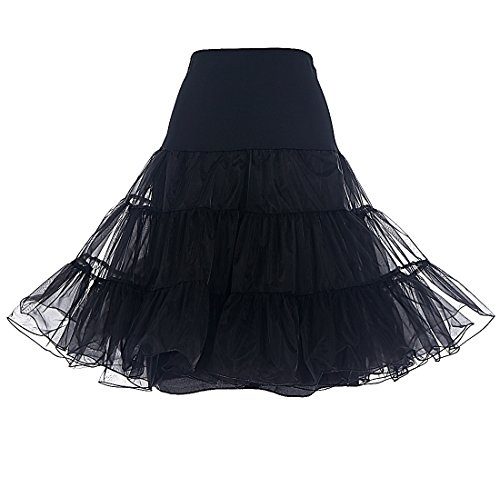 Women's Vintage Petticoat Skirt. Ideal for both 1950s and 1980s Madonna costume.  Many colors and three sizes available.