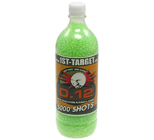 5.000 1ST TARGET DELIGHT Softair / Airsoft BBs 6mm 0,12g green in bottle - Airblister