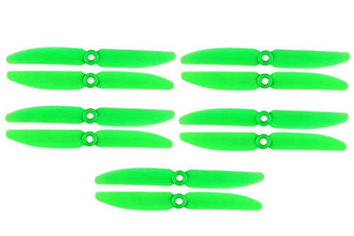 5Pairs ARRIS 5x3 Inch Plastic 2-Blade 5030 Propeller CW/CCW for 250 Mini Quadcopter Green