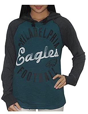 NFL Womens Philadelphia Eagles Athletic Pullover Vintage Look Hoodie