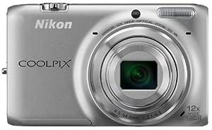 Nikon Coolpix S6500 Digitalkamera (16 Megapixel, 12-fach opt. Zoom, 7,6 cm (3 Zoll) LCD-Display, bildstabilisiert) silber