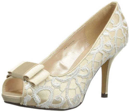 Lunar Womens Peep-Toe FLR213 Beige 7 UK, 40 EU