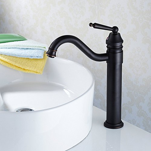 Lightinthebox? Deck Mounted Countertop Traditional Style Oil Rubbed Bronze Finish Bathroom Sink Faucet Curve Spout Single Handle Tall Spout Bathtub Faucet Filter Bath Tub Mixer Taps (Tub Spout And Handles compare prices)
